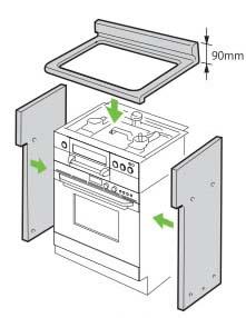リンナイ システムアップ 自立ユニット 後板固定タイプ 奥行550mm対応【UKR-U603】【47-9954】[新品]