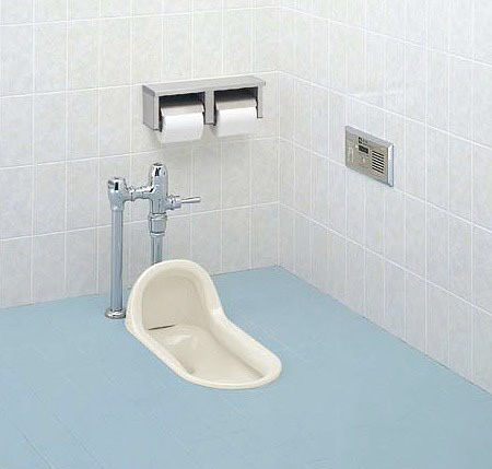 INAX LIXIL・リクシル トイレ 和風便器 【C-852B】 給水装置【OKC-510K】 スイッチ【OKC-2SP】 洗浄管【CF-110-51L】 スパッド【CF-103BB】[新品]