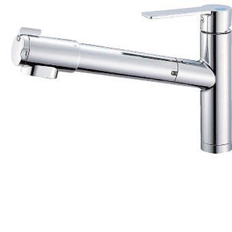 三栄水栓[SANEI] シングル浄水器付ワンホールスプレー混合栓【K87580E1JK-13】[新品]