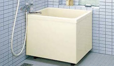 INAX LIXIL・リクシル 浴槽 ポリエック 800サイズ 和風タイプ 2方全エプロン【PB-802B(BF)L】バランス釜取付用 左排水【メーカー直送のみ・代引き不可・NP後払い不可】[新品]