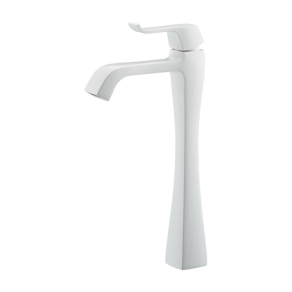 カクダイ KAKUDAI【716-240-W】シングルレバー立水栓(トール)ホワイト[新品]