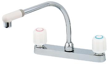 カクダイ 水道材料 2ハンドル混合栓【151-005】[新品]