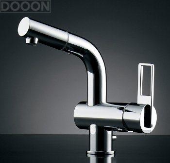 カクダイ 水栓材料 シングルレバー引出し混合栓//排水上部セットつき【184-021K】[新品]