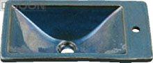 カクダイ 水栓材料 角型手洗器//孔雀【493-010-CB】[新品]