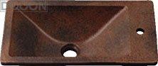 カクダイ 水栓材料 角型手洗器//窯肌【493-010-M】[新品]