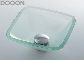 カクダイ 水栓材料 ガラス角型手洗器//クリア【493-029-C】[新品]