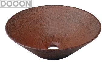 カクダイ 水栓材料 丸型手洗器//窯肌【493-037-M】[新品]