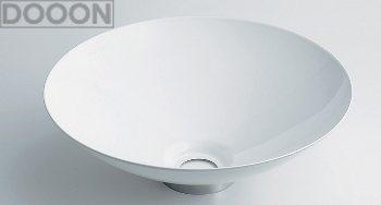 カクダイ 水栓材料 丸型手洗器//ホワイト【493-039-W】[新品]