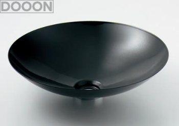 カクダイ 水栓材料 丸型洗面器//ブラック【493-045-D】[新品]