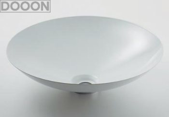 カクダイ 水栓材料 丸型洗面器//ホワイト【493-045-W】[新品]
