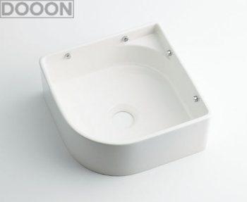 カクダイ 水栓材料 壁掛手洗器//ホワイト【493-048-W】[新品]