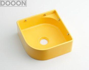 カクダイ 水栓材料 壁掛手洗器//イエロー【493-048-Y】[新品]