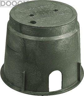 カクダイ 水栓材料 電磁弁ボックス(丸型)【504-011】[新品]
