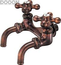 カクダイ 水栓材料 カラー双口ホーム水栓//ブロンズ【7050FBP-13】[新品]