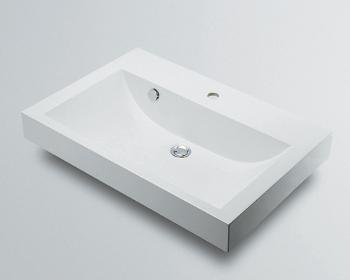 カクダイ 角型洗面器//1ホール【493-070-750】[新品]