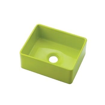 カクダイ 角型手洗器 イエローグリーン 受注生産品【493-174-YG】[新品]