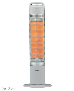 コロナ 電気ストーブ スリムカーボン 遠赤外線ヒーター CH-C98(H) グレー
