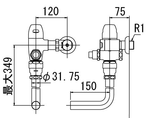 LIXIL リクシル 【CF-50UP】 シリーズ名: シリーズ外 品名: 一般用フラッシュバルブ(節水形)[新品]