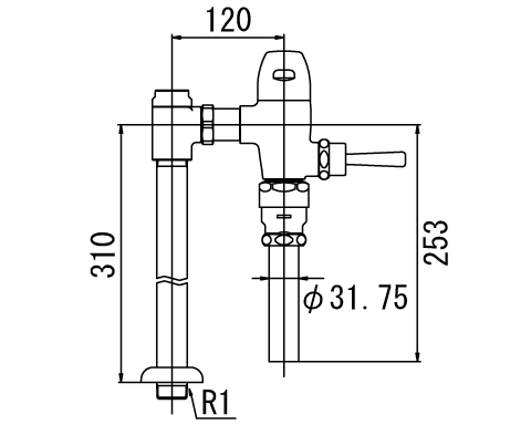 LIXIL リクシル 【CF-510BU】 シリーズ名: シリーズ外 品名: 一般用フラッシュバルブ(節水形)[新品]