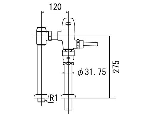 LIXIL リクシル 【CF-510U-C】 シリーズ名: シリーズ外 品名: 一般用フラッシュバルブ(節水形)(中水用)[新品]