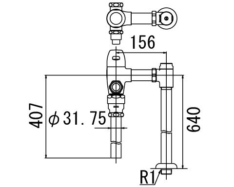 LIXIL リクシル 【CF-5114UPA】 シリーズ名: シリーズ外 品名: 一般用フラッシュバルブ(節水形)[新品]