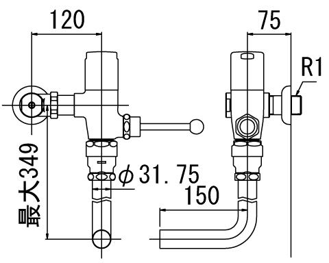 LIXIL リクシル 【CF-60UE-C】 シリーズ名: シリーズ外 品名: 一般用フラッシュバルブ(節水形)(中水用)[新品]