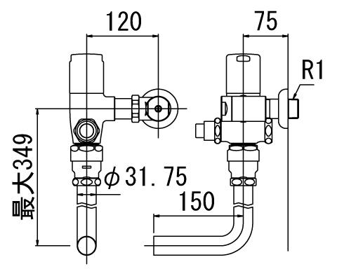 LIXIL リクシル 【CF-60UP】 シリーズ名: シリーズ外 品名: 一般用フラッシュバルブ(節水形)[新品]