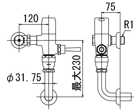 LIXIL リクシル 【CF-610KUH】 シリーズ名: シリーズ外 品名: 流動式フラッシュバルブ(節水形)(中水用)[新品]