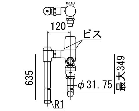 LIXIL リクシル 【CF-63UYP】 シリーズ名: シリーズ外 品名: 一般用フラッシュバルブ(節水形)[新品]