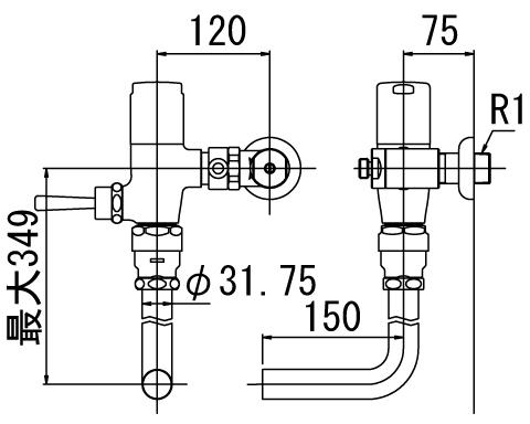 LIXIL リクシル 【CF-T60HCW】 シリーズ名: シリーズ外 品名: 流動式フラッシュバルブ(節水形)[新品]