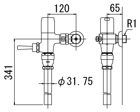 LIXIL リクシル 【CF-T6112CW】 シリーズ名: シリーズ外 品名: 一般用フラッシュバルブ(節水形)[新品]