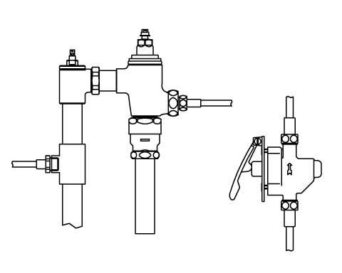 LIXIL リクシル 【CFR-680UPK】 シリーズ名: シリーズ外 品名: 隠ぺい形レバー式リモコンフラッシュバルブ(節水形)[新品]