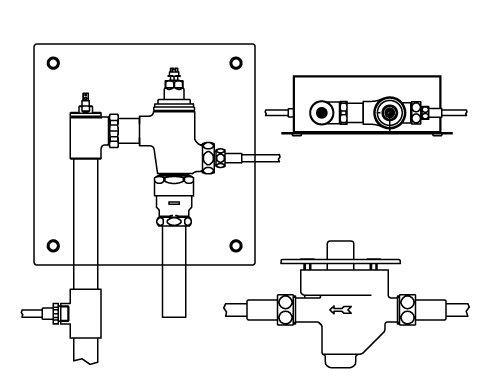 LIXIL リクシル 【CFR-681US-C】 シリーズ名: シリーズ外 品名: 埋込形足踏式リモコンフラッシュバルブ(節水形)(中水用)[新品]
