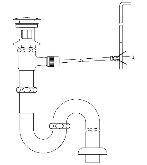 LIXIL リクシル 【LF-260SAC】 シリーズ名: シリーズ外 品名: ポップアップ式排水Sトラップ(排水口カバー付)[新品]