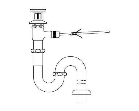 LIXIL リクシル 【LF-271SAL】 シリーズ名: シリーズ外 品名: ポップアップ式排水Sトラップ[新品]