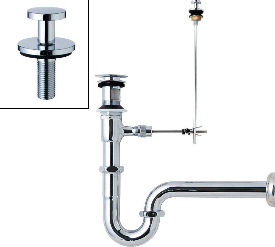 LIXIL リクシル 【LF-272SALC】 シリーズ名: シリーズ外 品名: ポップアップ式排水Sトラップ(排水口カバー付)[新品]