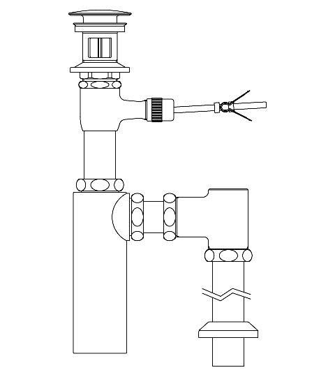 LIXIL リクシル 【LF-701SAC】 シリーズ名: シリーズ外 品名: ポップアップ式排水ボトルSトラップ(排水口カバー付)[新品]