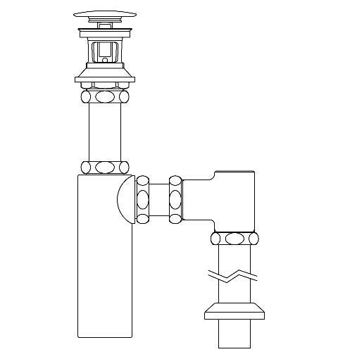 LIXIL リクシル 【LF-708SAC】 シリーズ名: シリーズ外 品名: 排水ボトルSトラップ(排水口カバー付)[新品]