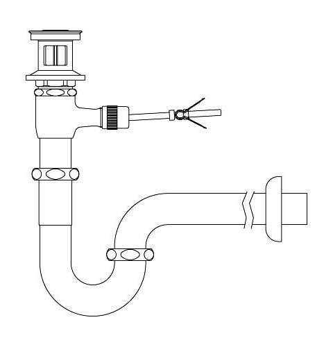 LIXIL リクシル 【LF-71PA】 シリーズ名: シリーズ外 品名: ポップアップ式排水Pトラップ[新品]