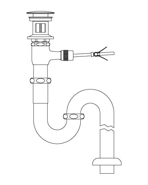 LIXIL リクシル 【LF-71SAC】 シリーズ名: シリーズ外 品名: ポップアップ式排水Sトラップ(排水口カバー付)[新品]
