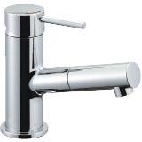 LIXIL リクシル 【LF-E345SYC】 シリーズ名: eモダン 品名: 吐水口引出式シングルレバー混合水栓(泡沫式)[新品]