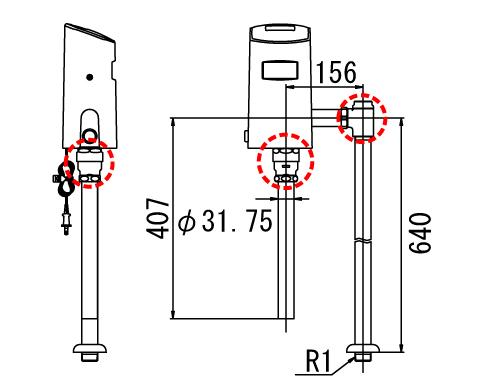 LIXIL リクシル 【OKC-T7114SA】 シリーズ名: オートフラッシュC 品名: オートフラッシュC センサー一体形(床給水形)[新品]