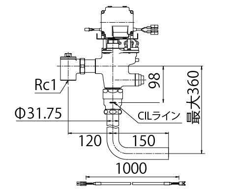 LIXIL リクシル 【OKC-T780N-C】 シリーズ名: オートフラッシュC 品名: オートフラッシュC セパレート形 自動フラッシュバルブ(ボックス無・埋込形)[新品]