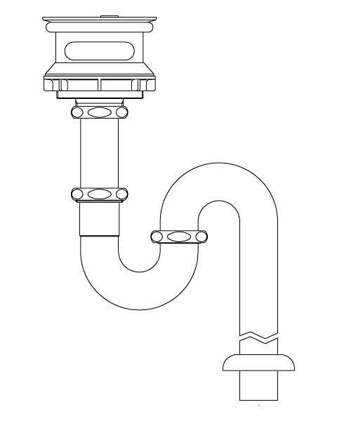 LIXIL リクシル 【SF-21SAM】 シリーズ名: シリーズ外 品名: ユーティリティユニット用排水Sトラップ[新品]