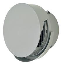 メルコエアテック 換気扇 【AT-175TCGSJK4】 外壁用(ステンレス製) 丸形防風板付ベントキャップ(覆い付・ワイド水切タイプ)|縦ギャラリ(75~200タイプ)横ギャラリ(250・300タイプ) 防火ダンパー付(120℃) [新品]
