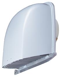 メルコエアテック 換気扇 【AT-200FWAK4】 外壁用(アルミ製) 深形フード(ワイド水切タイプ)|縦ギャラリ・網 防火ダンパー付(120℃) [新品]