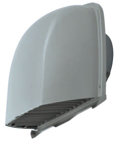 メルコエアテック 換気扇 【AT-200FWSD6-BL3M】 外壁用(ステンレス製) 深形フード(ワイド水切タイプ)BL品 縦ギャラリ・網 防火ダンパー付(72℃) [新品]