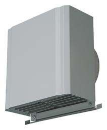 メルコエアテック 換気扇 【AT-200HGSK】 外壁用(ステンレス製) 深形スクエアフード|横ギャラリ 防火ダンパー付(120℃) [新品]