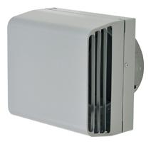 メルコエアテック 換気扇 【AT-200TWSYK4-BL】 外壁用(ステンレス製) 耐外風フード(左右開口タイプ)|縦ギャラリ・網 防火ダンパー付(120℃) [新品]