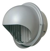 メルコエアテック 換気扇 【AT-300MWSJK6】 外壁用(ステンレス製) 丸形フード(ワイド水切タイプ)|縦ギャラリ・網 防火ダンパー付(120℃) [新品]